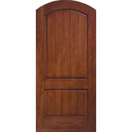 "CCR205A - Ruby-THERMA-TRU RUSTIC TWO PANEL ROUND TOP DOOR (1-3/4"")"