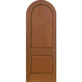 Fairbanks Therma Tru Rustic Two Panel Arched Top Door