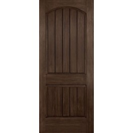 """20 Minute Rustic Two Panel Arched Plank Door (1-3/4"""")"""