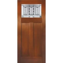 Spring Patina Fir Grain Direct Glazed Craftsman Door