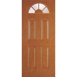 """DRG402020lite - Hubbard-Plastpro - CLEAR IG WOODGRAIN 20/20 LITE 4 PANEL DOOR (1-3/4"""")"""