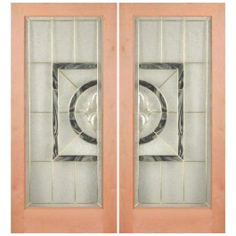 Knotty Alder 1 Lite- El100 Available In Brass Caming   ETO Doors