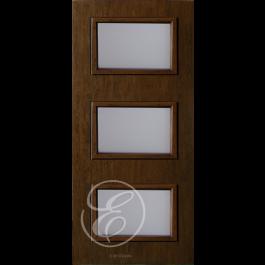 "FC533DAE - Escon 3-Even Lite Fiberglass Door with Cherry Grain (1-3/4"") Exterior Grade"