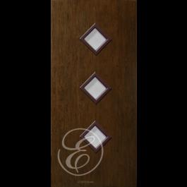 "FC535DAE - Escon 3-Diamond Lite Fiberglass Flush Door  with Cherry Grain (1-3/4"") Exterior Grade"