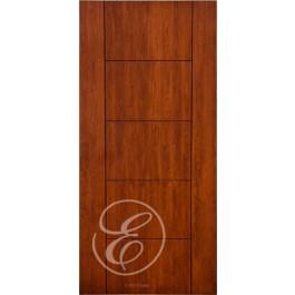 """FC577 - Escon 5 Horizontal Even Panel Firberglass Door with Cherry Grain (1-3/4"""" ) Exterior Grade"""