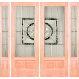 """El100 Panel Bottom Door With 2-Sidelites (1-3/4"""")"""