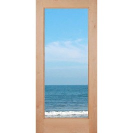 "KA1L - Knotty Alder 1-Lite French Door with Dual Pane Clear Glass (1-3/4"")"