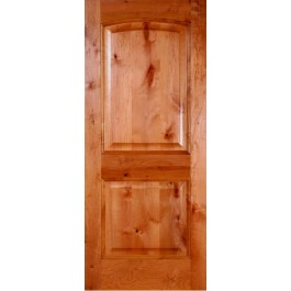 "KA230 - Knotty Alder 2 panel Arched Door (1-3/4"")"