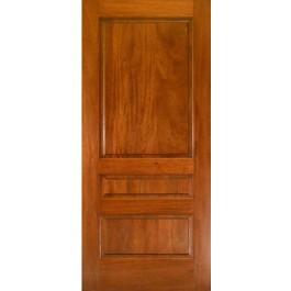 MA300 - Mahogany 3 Panel Square Top Door | ETO Doors