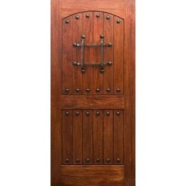 "RM1 - Mahogany RM1 Rustic Knotty Door (1-3/4"")"