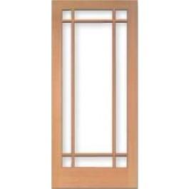 """TM1509 - Vertical Grain Douglas Fir French Door 9-Lite Marginal Dual Glaze Temp Glass (1-3/4"""")"""