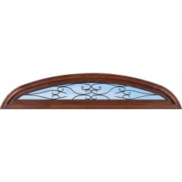 TransomELSpain - Elliptical Top Transom with Clear Iron Glass