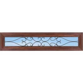 TransomRTSpain - RectangleTop Transom with Clear Iron Glass