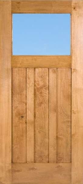 Craftsman1liteclear Knotty Alder Craftsman 1 Lite Door