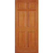"AB2130 - Vertical Grain Douglas Fir EXTERIOR 6 Panel Door (1-3/4"")"