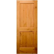 KNOTTY ALDER 2 PANEL V-GROOVE SQUARE TOP DOOR