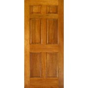 Mahogany 6 Panel Door 1-3/8""