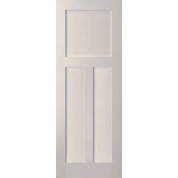 "3 Panel White Primed Shaker Door (1-3/8"")"
