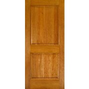 "MVS6002 - 2-Panel Square Top Mahogany Interior Door with raised panel and ovolo sticking (1-3/8"")"
