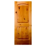"SED230138 - Knotty Alder 2 panel Arched Top Door (1-3/8"")"