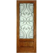 "FD1LPBESF1 - Mahogany ESF1 Panel Bottom Iron Glass (1-3/4"")"