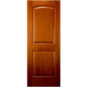 "AC238 - African Cherry 2 Panel Arched Top Door (1-3/8"")"