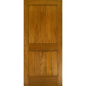 MAHOGANY 2 PANEL SQUARE TOP V-GROOVE DOOR