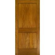 MAHOGANY 2 PANEL SQUARE TOP V-GROOVE DOOR
