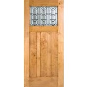 Knotty Alder Craftsman 1-Lite Door with Beveled Glass