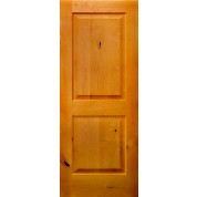 Knotty Alder 2 panel Square Top Door