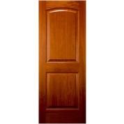 """African Cherry 2 Panel Arched Top Door (1-3/4"""")"""