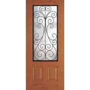"DRG49CAM342 - Jamesburg-Plastpro - CAMILIA WROUGHT IRON WOODGRAIN 3/4 LITE DOOR (1-3/4"")"