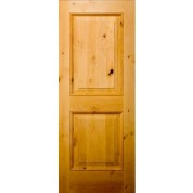 "Cheyenne - Knotty Alder 2 Panel Square Top with raised moulding Door (1 3/4"")"