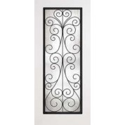 "DRS00CAMFL7 - Parsons-Plastpro - CAMILIA WROUGHT IRON SMOOTH SKIN FULL LITE DOOR (1-3/4"")"