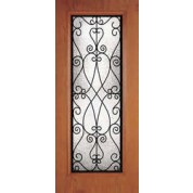 "DRG00PCLFL7 - Fanwood-Plastpro - PRISCILA WROUGHT IRON WOODGRAIN FULL LITE DOOR (1-3/4"")"