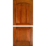 """DUTEXMA230 - Dutch: Mahogany 2 Panel Arched Top Door (1-3/4"""")"""