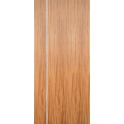 "AMQSA1V - Mahogany Flush Doors with 1 Vertical 1/4"" Aluminum Strip (1-3/4"")"