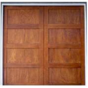 Aria - Contemporary Shaker Stile 4-Panel Wood Garage Doors