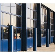 GlassCommercial - Full View Aluminum & Clear Glass Commercial Garage Door