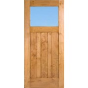 "Craftsman1LiteClear - Knotty Alder Craftsman 1-Lite Door with Clear Glass (1-3/4"")"