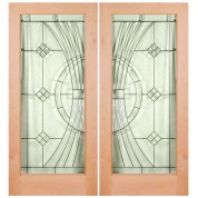 "KA1LEL300 - Knotty Alder 1 Lite Door- EL300 (1-3/4"")"