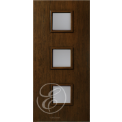 "FC531DAE - Escon 3 Square Vertical Even Lite Fiberglass Flush Door  with Cherry Grain (1-3/4"") Exterior Grade"