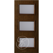 "FC533DAE - Escon 3-Even Lite Fiberglass Door with Cherry Grain (1-3/4"") Exterior Grade"