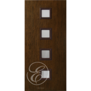 "FC541DAE - Escon 4 Square Vertical Even Lite Fiberglass Flush Door  with Cherry Grain (1-3/4"") Exterior Grade"