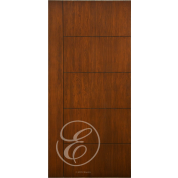 "FC566 - Escon One Vertical Stile with  5 Horizontal Even Panels Firberglass Door with Cherry Grain (1-3/4"")"