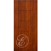 "FC577 - Escon 5 Horizontal Even Panel Firberglass Door with Cherry Grain (1-3/4"" ) Exterior Grade"