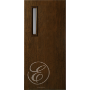"FC591DAE - Escon 1 small vertical lite fiberglass flush door with Cherry Grain (1-3/4"") Exterior Grade  (Left or Right)"