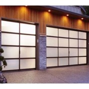 GlassFrosted - Full View Aluminum & Frosted (Sandblast) Glass Garage Door