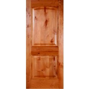 "Knotty Alder 2 panel Arched Door (1-3/4"")"