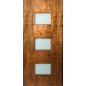 "Lux - 3 Rectangle Lite Door with Laminate Glass (1-3/4"")"